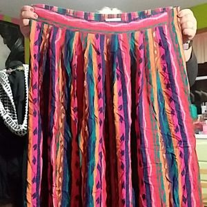 Multi-Colored Maxi Skirt